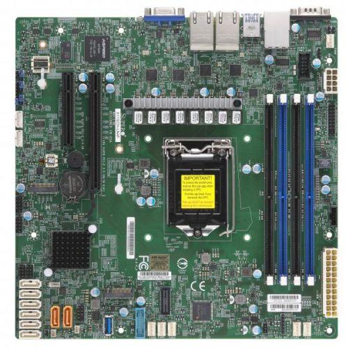 Материнская плата mATX Supermicro MBD-X11SCH-LN4F-O LGA1151, C246, 4*DDR4 (2666), 8*SATA 6G RAID, M.2, 2*PCIE, 4*Glan, 6*USB 3.1, VGA материнская плата supermicro mbd x12sae o lga1200 w480 4 ddr4 2933mhz 4 sata 6gb s raid 2 m 2 2 5glan glan 5 pcie 7 usb 3 2 usb type c 2
