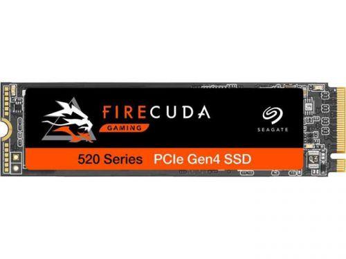 Накопитель SSD M.2 2280 Seagate ZP2000GM3A002 FireCuda 520 2TB PCI-E x4 NVMe 3D TLC 5000/4000MB/s IOPS 630K/430K MTBF 1.8M  - купить со скидкой