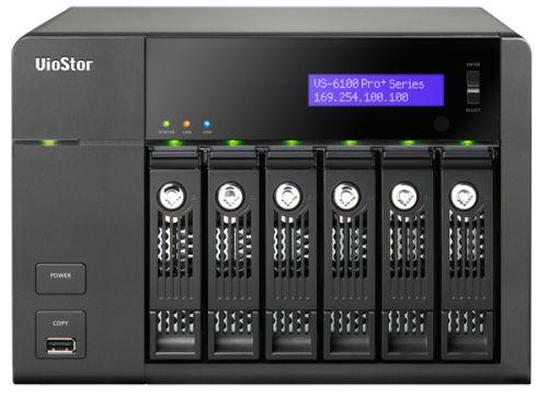 Система QNAP VS-6112 Pro+ с 12 каналами для записи видео и шестью отсеками для жестких дисков