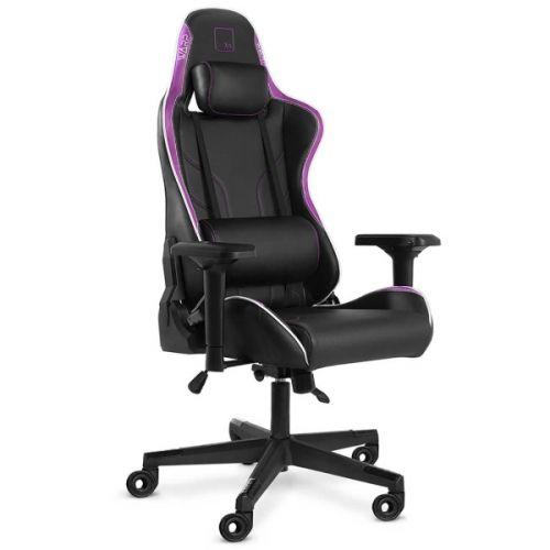 Кресло WARP Xn чёрно-фиолетовое (экокожа, алькантара, регулируемый угол наклона, механизм качания)