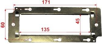 Суппорт Lanmaster LAN-MF45x135 металлический для установки 45х135