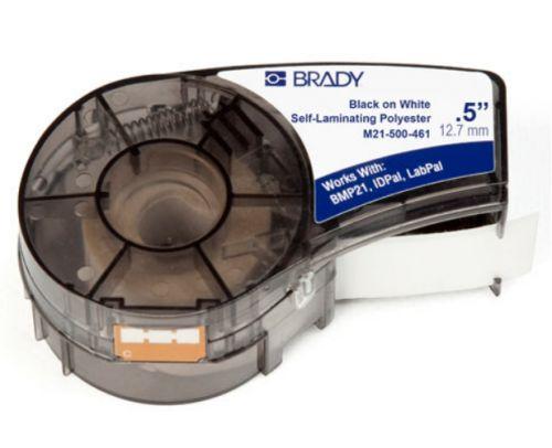 Лента красящая Brady M21-500-461 brd110932 12.7mm/6.4m, полиэстер, черный на белом, для BMP21 недорого