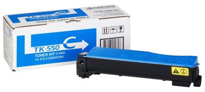 Фото - Тонер-картридж Kyocera TK-550C 1T02HMCEU0 для FS-C5200DN Cyan 6000 стр картридж crown cmk tk 540c cyan для kyocera fs c5100 4000к