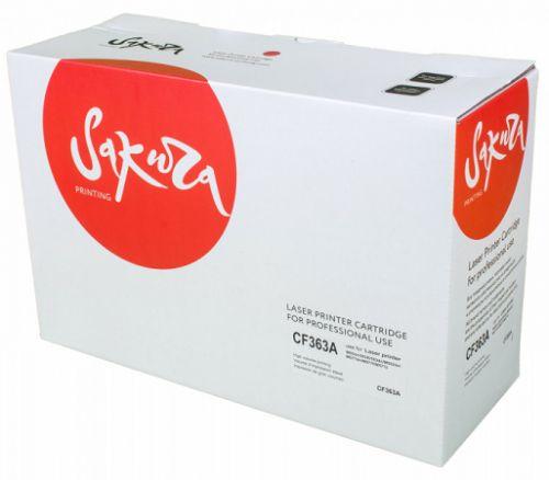 Картридж Sakura SACF363A для HP Color LaserJet Enterprise M553n/553X/553dn HP Color LaserJet Enterprise M552dn, пурпурный, 5000к.