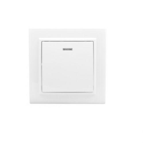 Выключатель EKF ERV10-121-10 1-кл. СП Минск 10А с индикатором белый, Basic