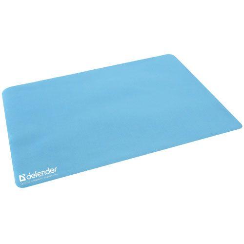 Коврик для мыши Defender Notebook microfiber 50709 серый/голубой, тканевый, 300х225х1.2мм