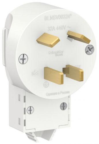 Вилка Schneider Electric BLNSV003241 силовая 3Р+N 32А, 400В бел
