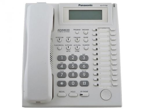 Системный телефон aналоговый Panasonic KX-T7735RU для KX-TE и KX-TDA panasonic kx dt346ru white цифровой системный телефон