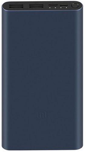 Аккумулятор внешний портативный Xiaomi Mi Power Bank 3 PLM13ZM VXN4274GL Li-Pol 10000mAh 2.4A+2.4A черный 2xUSB (X24270) чехол xiaomi silicone case for mi power bank 2 plm09zm 10000mah 2xusb green