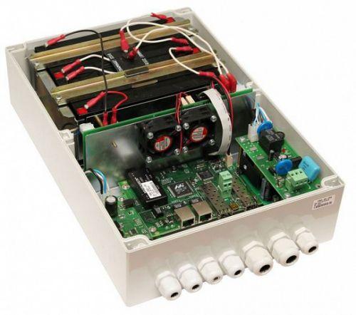 Коммутатор управляемый TFortis PSW-2G 2F+ UPS гигабитный уличный для подключения 1 поворотной камеры с системой бесперебойного питания с поддержкой Ро