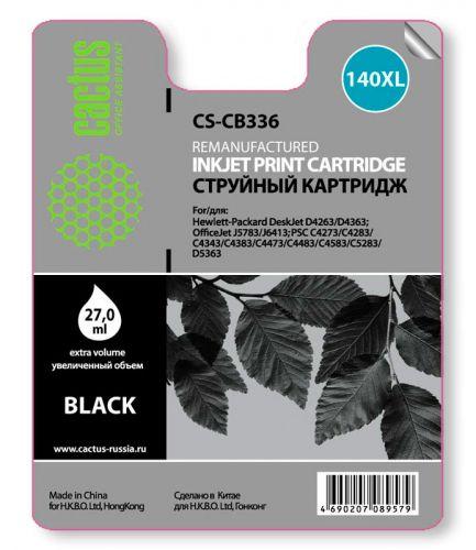 Картридж Cactus CS-CB336 №140 XL (черный) для HP DeskJet D4263/D4363; OfficeJet J5783/J6413; PSC C4273/C4283/C4343/C4383/C4473/C4483/C4583/C5283/D5363