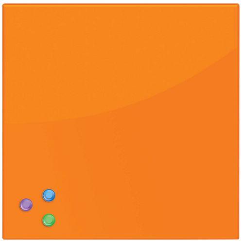Доска BRAUBERG 236738 магнитно-маркерная стеклянная 45х45 см, 3 магнита, оранжевая brauberg 45x45 см розовая 3 магнита 236742