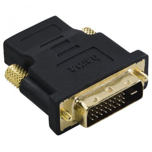 Переходник HAMA H-34035 00034035 HDMI (f) - DVI/D (m) позолоченные штекеры черный