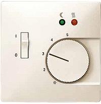 Накладка Schneider Electric MTN537544 Merten регулятора тёплого пола с выключателем, термопласт, IP20 (бежевая)