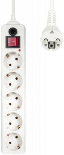 Сетевой фильтр Buro 500SH-3-W 3м (5 розеток) белый (коробка) сетевой фильтр 5 розеток космос fksm5m 5g w белый 5 м