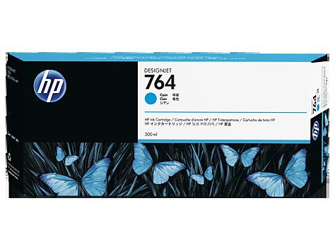 Картридж HP C1Q13A 764 300-ml Cyan Ink Cartridge