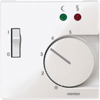Накладка Schneider Electric MTN534919 Merten SM регулятора тёплого пола с выключателем, термопласт, IP20 (белый глянцевый)