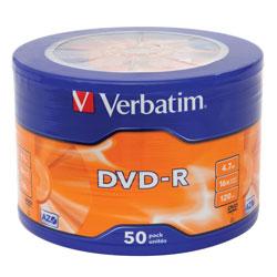 Диск DVD-R Verbatim 43731 4.7ГБ, 16x, 50шт., Wagon Wheel (961309)