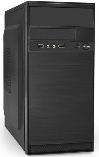 Корпус mATX Exegate QA-408 EX261465RUS безБП,2*USB,аудио,черный