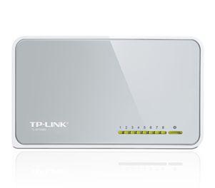 Фото - Коммутатор неуправляемый TP-LINK TL-SF1008D 8xUTP 10/100, пластик коммутатор tp link tl sf1008d 8 портовый 10 100 мбит с настольный коммутатор