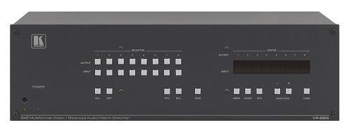 Коммутатор Kramer VP-885 21-70899020 8:8 мультиформатный, для cигналов CV/YC/YUV, S/PDIF и балансных звуковых стереосигналов, 350 МГц