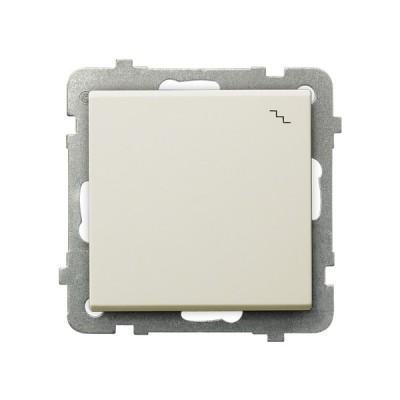 Выключатель Ospel LP-3R/m/27 лестничный, 16AX, 250V, 3520W, IP-20, клеммы безвинтовые, экрю