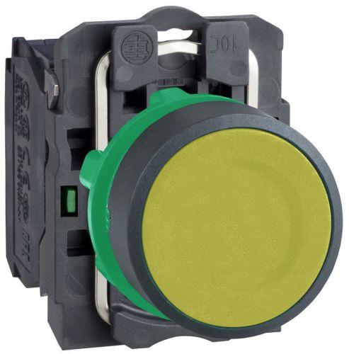 Кнопка Schneider Electric XB5AA51 с возвратом желтая 22мм переключатель schneider electric xb5ad41 2 позиции с возвратом 22мм черный