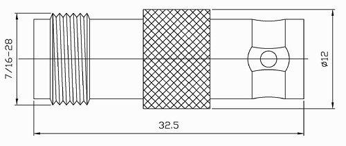 Переходник Hyperline AD-BNC-F-TNC-F BNC (мама) - TNC (мама)