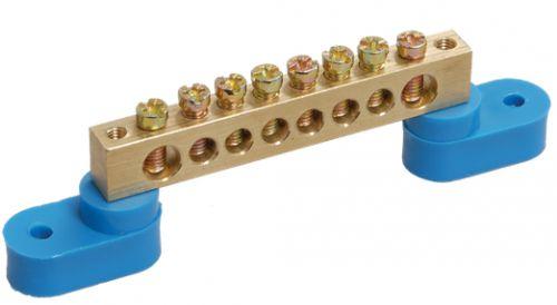 Шина IEK YNN10-69-16C2-K07 N ноль на двух угловых изоляторах ШНИ-6х9-16-У2-С