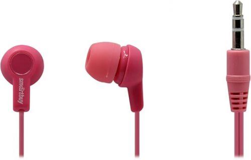 Наушники SmartBuy Jazz SBE-740 розовые, 3 пары силиконовых вставок