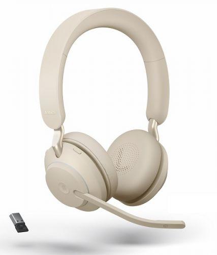 Гарнитура беспроводная Jabra Evolve2 65 26599-999-998 Link380a MS Stereo beige