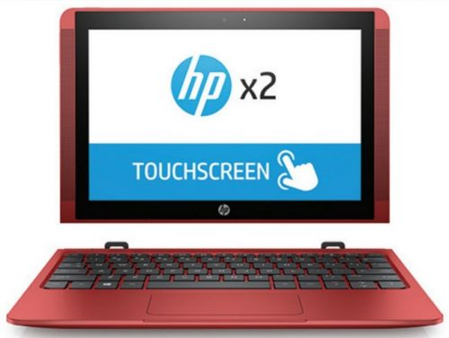"Hewlett-Packard Ноутбук HP X2 10-p001ur Y5V03EA X5 Z8350/2Gb/SSD32Gb/Intel HD Graphics 400/10.1""/IPS/Touch/HD (1366x768)/Windows 10 64/red/WiFi/BT/Cam"