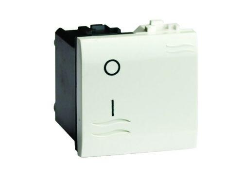 Выключатель DKC 77122NL двухполюсный, с подсветкой, черный, 2 модуля, Brava