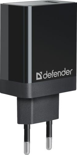 Фото - Зарядное устройство сетевое Defender UPA-101 83573 1USB зарядное устройство defender upa 22 2xusb black 83579
