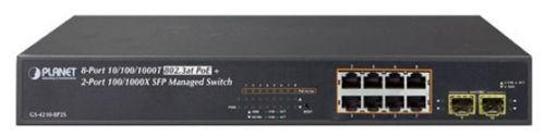 Коммутатор PoE Planet GS-4210-8P2S управляемый, IPv4/IPv6, 8xGE 802.3at POE+ 2x100/1000X SFP (120W) ipv6