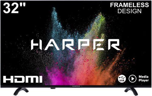 Телевизор Harper 32R720T черный/HD READY/60Hz/DVB-T/DVB-T2/DVB-C/DVB-S2/2*USB 2.0/3*HDMI