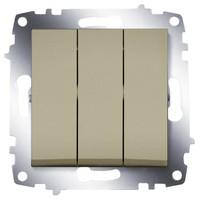 Выключатель ABB 619-011400-254 Cosmo трехклавишный, 10А, 250В, IP20 (титаниум)