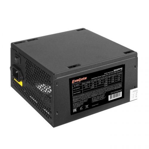 Фото - Блок питания ATX Exegate 500PPE EX260641RUS-S 500W, SC, black, APFC, 12cm, 24p+(4+4)p PCI-E, 3*IDE, 5*SATA, FDD + кабель 220V с защитой от выдергивани выключатель сенсорный с контактным проводом 220v 500w pm218ws 220v