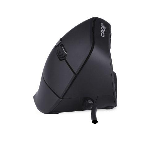 Мышь Crown CMM-960 Black USB CM000001726 1000/1600dpi, 6 кнопок, LED индикатор, plug play, вертикальная, 1.8м
