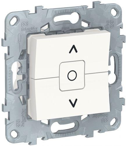Фото - Выключатель Schneider Electric NU520818 UnicaNew, белый, для жалюзи, 2-клавишный, сх. 4 выключатель schneider electric nu520118 unicanew белый 1 клавишный сх 1 10 ax 250в