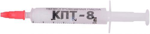 Термопаста Россия КПТ-8 3 гр шприц 3гр, теплопроводность 0.7~0.8 Вт/мК, вязкость 130~180 Па·с, плотность 2.6~3 г/см³