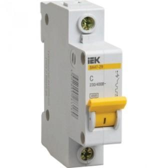 Автоматический выключатель IEK MVA20-1-004-C ВА47-29 1Р 4А 4,5кА х-ка С