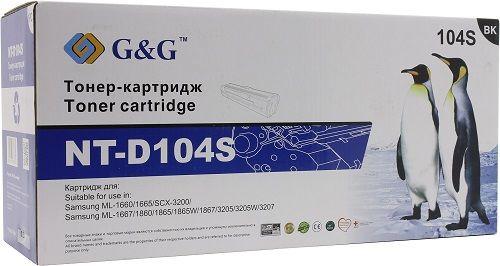 Тонер-картридж G&G NT-D104S для Samsung ML-1660/1665/1660K/1665K/1661K/SCX-3200/3217/3205/3210/1675