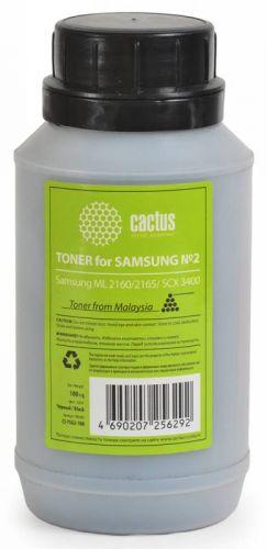 Тонер для заправки Cactus CS-TSG2-100 чёрный (флакон 100гр) Samsung ML 2160/2165/ SCX 3400