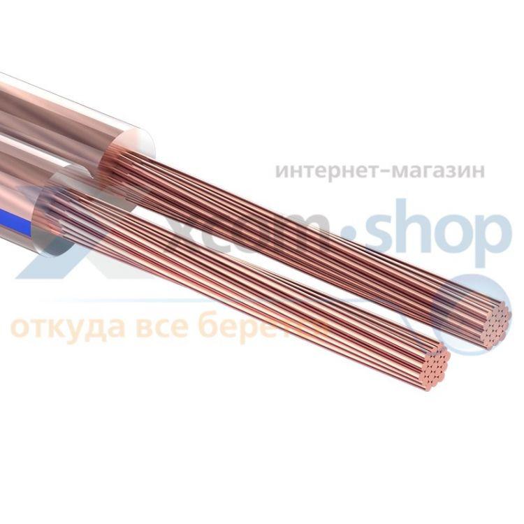 Rexant 2х0.35 мм², прозрачный BLUELINE, 100 м.