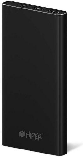 Аккумулятор внешний универсальный HIPER MPX10000 Li-Pol 10000mAh 3A+3A+2.4A 2xUSB 1xType-C, черный недорого