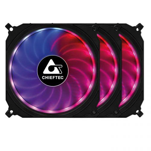 Вентилятор для корпуса Chieftec CF-3012-RGB 120x120x25мм (пульт управления, контроллер управления, Addresable RGB), 1200об/мин