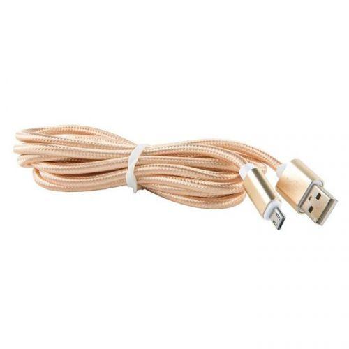 Кабель интерфейсный Red Line USB-micro USB УТ000013406 нейлоновая оплетка, золотой кабель интерфейсный red line usb micro usb ут000014162 2 м нейлоновая оплетка золотой