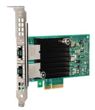 Сетевая карта Dell 540-BBRG. Intel X550 Dual Port 10G BASE-T, Low Profile сетевая карта intel x710t4