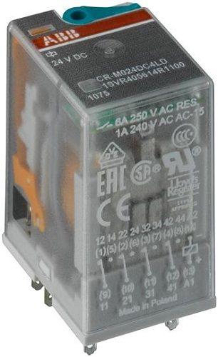 Реле ABB 1SVR405613R4000 промежуточное CR-M012DC4 6А 12В 4ПК CR-M без индикации без розетки